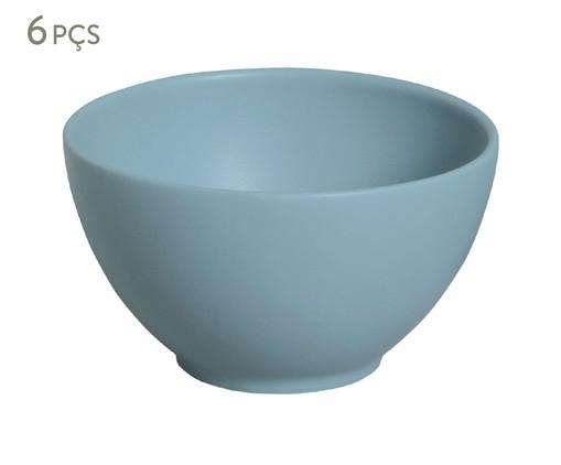 Jogo de Bowls em Cerâmica Coup Stoneware Fiordes 06 Pessoas - Azul, Azul | WestwingNow