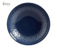 Jogo de Pratos Fundos Agra Deep Blue - 06 Pessoas | WestwingNow