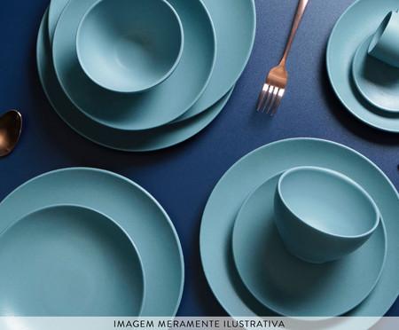 Jogo de Pratos para Sobremesa em Cerâmica Stoneware Fiordes - Azul | WestwingNow
