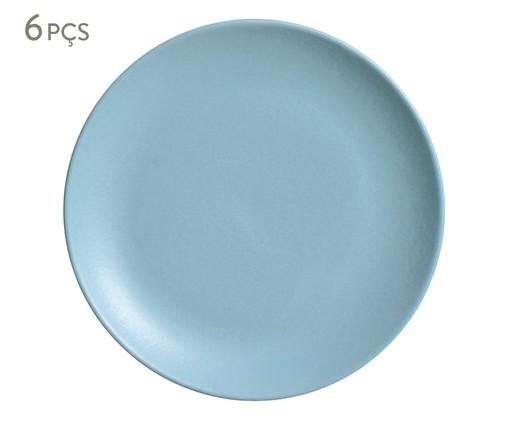 Jogo de Pratos para Sobremesa em Cerâmica Coup Stoneware Fiordes 06 Pessoas - Azul, Azul | WestwingNow