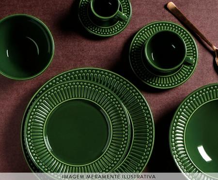 Jogo de Xícaras para Chá em Cerâmica Roma Botânico - Verde | WestwingNow