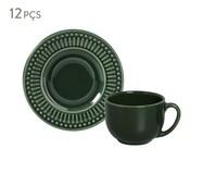 Jogo de Xícaras para Chá em Cerâmica Roma Botânico 06 Pessoas - Verde | WestwingNow