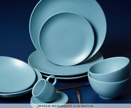 Jogo de Pratos Rasos em Cerâmica Stoneware Fiordes - Azul | WestwingNow