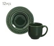 Jogo de Xícaras para Café Roma Botânico - Verde   WestwingNow