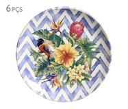 Jogo de Pratos para Sobremesa em Cerâmica Coup Summer 06 Pessoas - Azul | WestwingNow