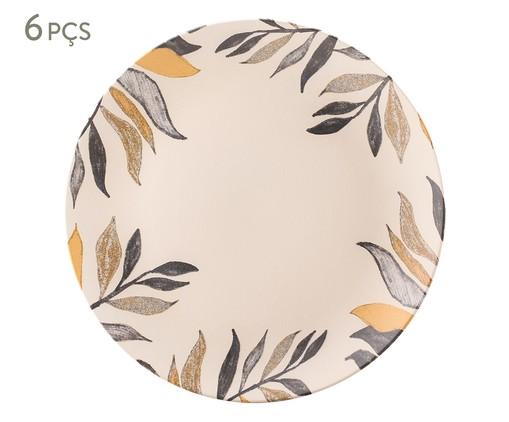 Jogo de Pratos Rasos em Cerâmica Coup Amarilla - Off White, Bege | WestwingNow