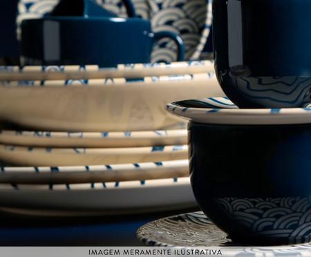 Jogo de Xícaras para Chá em Cerâmica Coup Al Mare - Azul   WestwingNow