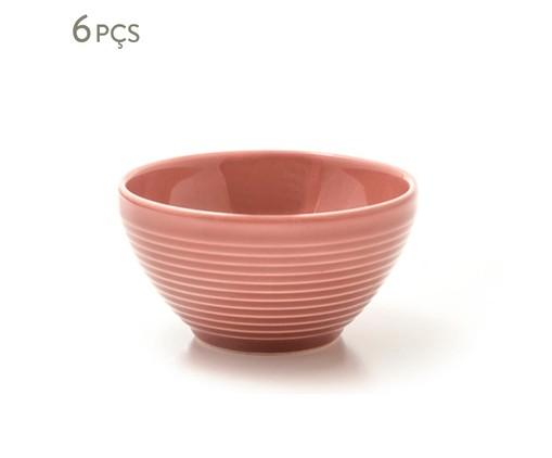 Jogo de Bowls em Cerâmica Argos Pimenta-Rosa 06 Pessoas - Rosa, Rosa   WestwingNow