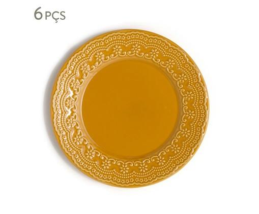 Jogo de Pratos Rasos em Cerâmica Madeleine Especiarias Curry - Amarelo, Amarelo | WestwingNow