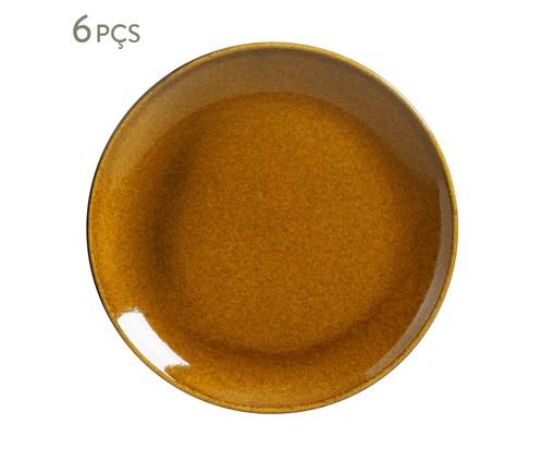 Jogo de Pratos para Sobremesa em Cerâmica Coup Stoneware 06 Pessoas - Ambar, Âmbar | WestwingNow