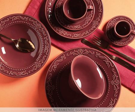 Jogo de Pratos Rasos em Cerâmica Acanthus Especiarias Sumac - Roxo | WestwingNow