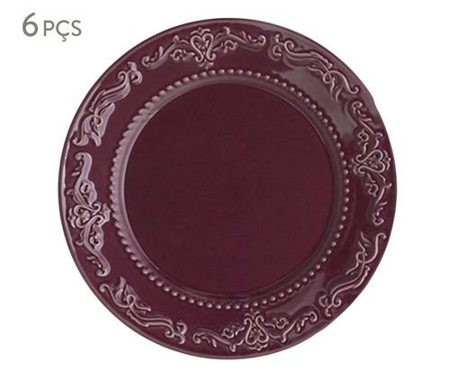 Jogo de Pratos Rasos em Cerâmica Acanthus Especiarias Sumac - Roxo, Roxo   WestwingNow