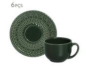 Jogo de Xícaras de Chá Greek Botânico - 06 Pessoas | WestwingNow