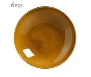 Jogo de Pratos Fundos em Cerâmica Stoneware Âmbar - 06 Pessoas | WestwingNow