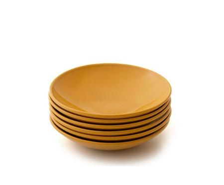 Jogo de Pratos Fundos em Cerâmica Coup Especiarias Curry - Amarelo | WestwingNow