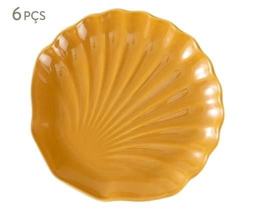 Jogo de Pratos para Sobremesa em Cerâmica Ocean Curry-Panelinha 06 Pessoas - Amarelo, Amarelo | WestwingNow