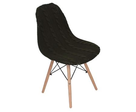 Capa para Cadeira Eames em Tricot Trançada Eiffel Charles - Verde | WestwingNow