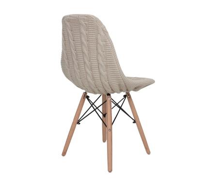 Capa para Cadeira Eames em Tricot Trançada Eiffel Charles - Bege | WestwingNow