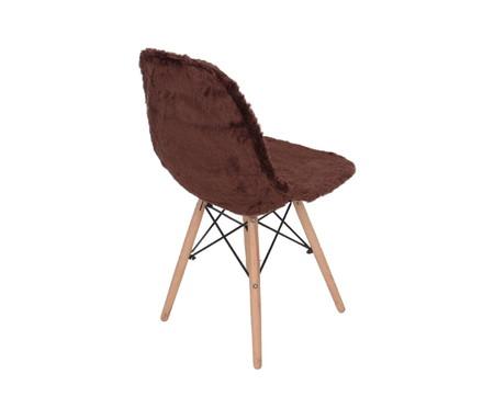 Capa para Cadeira Eames em Pelucia Eiffel Charles - Marrom | WestwingNow
