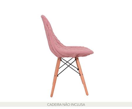Capa para Cadeira Eames em Tricot Trançada Eiffel Charles - Rosa | WestwingNow