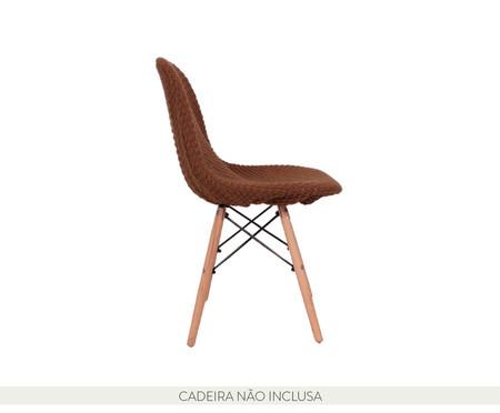 Capa para Cadeira Eames em Tricot Eiffel Charles - Marrom | WestwingNow