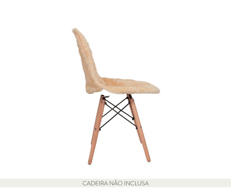 Capa para Cadeira Eames em Pelucia Eiffel Charles - Bege | WestwingNow