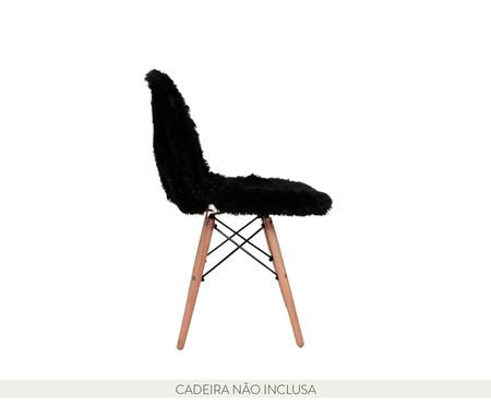 Capa para Cadeira Eames em Pelucia Eiffel Charles - Preto | WestwingNow