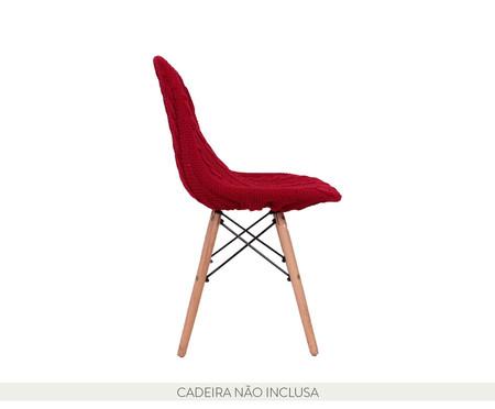 Capa para Cadeira Eames em Tricot Trançada Eiffel Charles - Vermelho | WestwingNow
