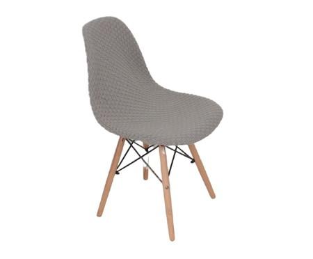 Capa para Cadeira Eames em Tricot Eiffel Charles - Cinza | WestwingNow