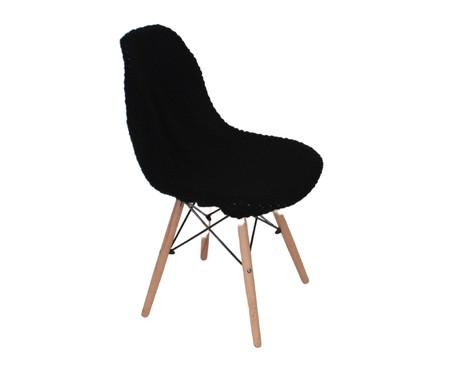 Capa para Cadeira Eames em Tricot Eiffel Charles - Preto | WestwingNow