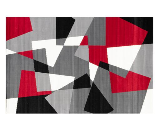 Tapete Geométrico Indonésia Cinereal Eva - Cinza e Vermelho, Cinza,Vermelho e Preto | WestwingNow