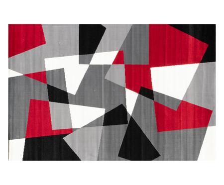Tapete Geométrico Indonésia Cinereal Eva - Cinza e Vermelho | WestwingNow
