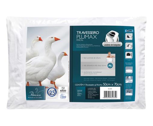 Travesseiro Nuno Plumas Sintéticas Siliconadas Percal - Branco, Branco | WestwingNow