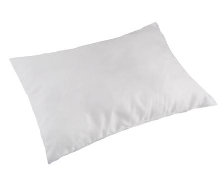 Travesseiro Nuno Plumas Sintéticas Siliconadas Percal - Branco | WestwingNow