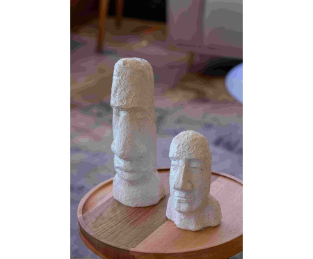 Escultura em Resina Rosto l - Branca | WestwingNow