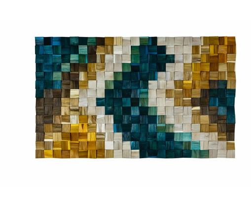 Quadro de Madeira 3D - Yabah, colorido | WestwingNow