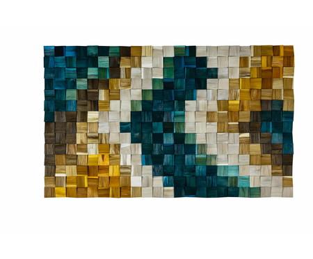Quadro de Madeira 3D Yabah Colorido - 115x70cm   WestwingNow