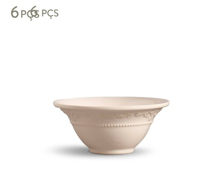 Jogo de Bowls Acanthus Cru - 06 Pessoas | WestwingNow
