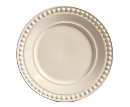 Jogo de Pratos para Sobremesa Atenas Cru - 06 Pessoas | WestwingNow