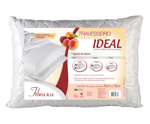 Travesseiro Regulável Muca - Branco, Branco | WestwingNow