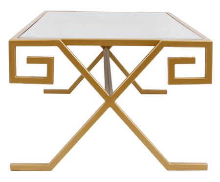 Mesa de Centro Retangular Chave Grega - Dourado | WestwingNow
