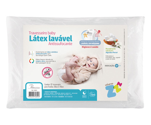 Travesseiro Baby Gali Baby Antissufocante - Branco, Branco | WestwingNow