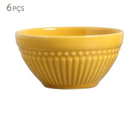 Jogo de Bowls em Cerâmica Roma 06 Pessoas - Mostarda | WestwingNow
