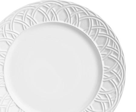 Jogo de Pratos Rasos Cestino Branco - 06 Pessoas | WestwingNow