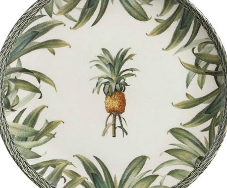 Jogo de Pratos Rasos em Cerâmica Coup Pineapple 06 Pessoas - Verde | WestwingNow