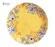 Jogo de Pratos Rasos em Cerâmica Coup Nouveau 06 Pessoas - Amarelo | WestwingNow