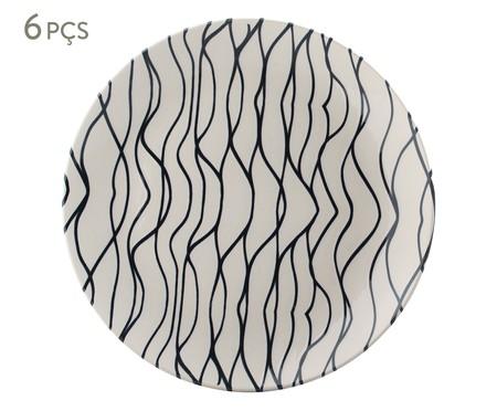 Jogo de Pratos Rasos em Cerâmica Coup Al Mare - Off White | WestwingNow
