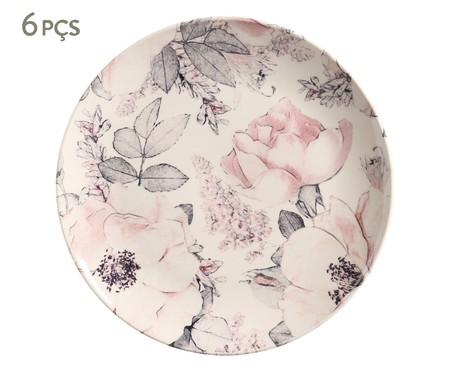 Jogo de Pratos Rasos em Cerâmica Coup Bonjour - Rosa | WestwingNow