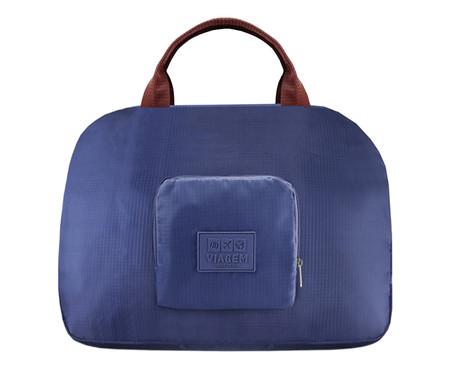 Bolsa de Viagem Dobrável Jami Azul Marinho - 41X35X16cm | WestwingNow