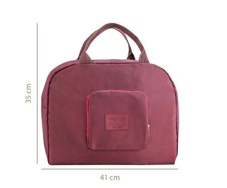 Bolsa de Viagem Dobrável Jami Vinho - 41X35X16cm | WestwingNow